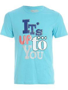 Tee-shirt à typo colorée pour Kiabi Homme, printemps été 2013