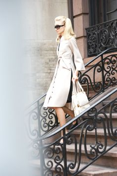 awesome side slit trench.  Grace Kelly styling does't hurt.