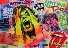"File:Pop-Art ""Mick Jagger"" Öl + Acryl auf Leinwand von Silvia"