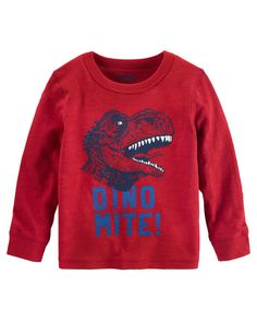 Baby Boy Glow-In-The-Dark Dino Tee from OshKosh B'gosh. Shop clothing &…