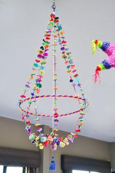 school entrance chandelier