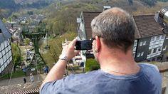 Die Seilbahn in Solingen-Burg vom Schlossplatz aus fotografiert :) 4/2015
