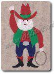 Cowboy Santa Embroidery Design by 8Clawsandapaw.com