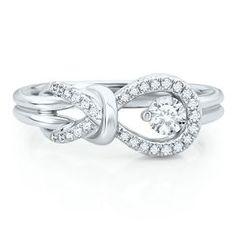 Everlon 1/3ct TW Knot Diamond Ring - Shop All Rings - Rings - Jewelry - Helzberg Diamonds