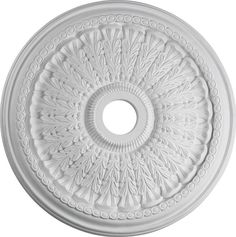 "This Ceiling Medallion, finished in attractive Studio White, sets itself apart from the crowd and adds the final touch to your home or office. - Studio White Finish - Traditional style - 1.75"" Height"
