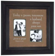 Really cute idea for the groom's parents
