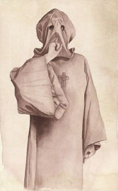 1 Aleister Crowley In His Robe fraternitas saturni  Note the Shhh sign
