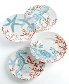 Beautiful coastal dinnerware on sale at Macy's. #dinnerware #coastal