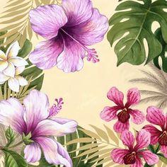 Orchid Luau Sq by Elena Vladykina | Ruth Levison Design