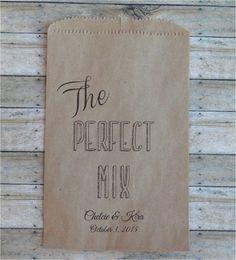Wedding Favor Bags Trail Mix Snack Bar Buffet by DetailsonDemand