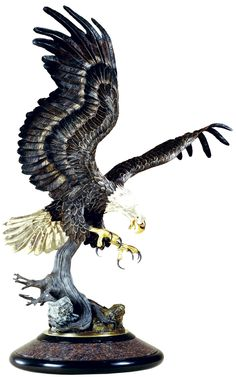 Bronze eagle sculptures by World Renown Chester Fields. Chester Fields specializes in eagle statues and monuments from - high Eagle Statue, Animal Sculptures, Bronze Sculpture, Chester, Art Boards, Eagles, Fields, Carving, Tattoo