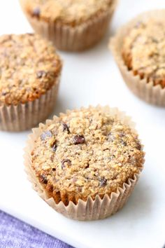 Sorry for the tease, especially since I've been posting about these on  Instagram all week! I've eaten 2 muffins for breakfast or dessert the past  3 days and I'm already about to throw another batch in the oven. These  Banana Chocolate Chip Oatmeal Muffins are basically a bowl of oatmeal in