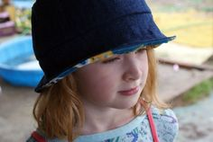 DIY Kid's Sun Hat | 50 Kid Sewing Projects Moms Can Make