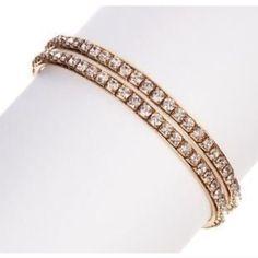 "Clearance T&J Designs Crystal Bangle Set Stunning Crystal Bangle set!! Lead free- 8"" inside circumference T&J Designs Jewelry Bracelets"