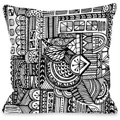 OneBellaCasa White & Black Lines Throw Pillow (62 BRL) ❤ liked on Polyvore featuring home, home decor, throw pillows, black white home decor, black white throw pillows, black and white home decor, black and white toss pillows and black and white home accessories