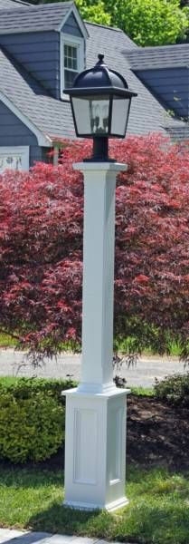 wooden lamp post lamp post lighting i need 3 white composite posts 1175