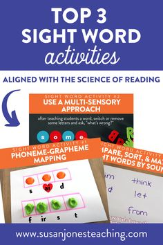 Are you looking for fun and effective sight word activities that align with Science of Reading? Look no further; these are three of my favorite activities for teaching sight words in lower elementary. You can use these phoneme and grapheme activities, including phoneme mapping during small group literacy instruction or guided reading groups. I also share about how I chose and use Dolch 1st grade high-frequency words and sight word games. Enjoy these literacy activities today!