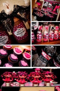 Monster High Party Theme | Monster High 8th Birthday Party Theme Eigth Pink Black ... | Fiestas
