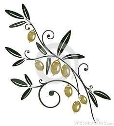 Illustration about Colorful olive branch, kitchen design element. Illustration of illustration, decorative, plant - 33937927 Olive Tree Tattoos, Halloween Borders, Branch Vector, Wild Tattoo, Tree Tattoo Designs, Flower Frame, Illustrations, Black Tattoos, Vector Art