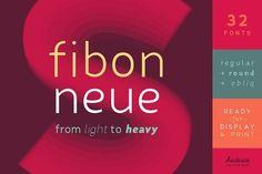 Fibon Neue Family 40% OFF by Hederae Creative Shop on @creativemarket