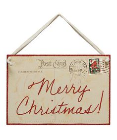 Look what I found on #zulily! Vintage 'Merry Christmas!' Postcard Décor by Primitives by Kathy #zulilyfinds