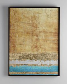 H71BY John-Richard Collection Aqua and Gold Giclee