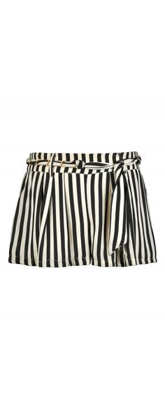 Lily Boutique Sail Away With Me Chain Belt Stripe Shorts in Black/Ivory, $30 Black and Ivory Stripe Shorts, Cute Stripe Shorts, Nautical Stripe Shorts www.lilyboutique.com