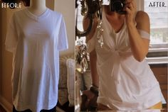 T-shirt into a super cute summer top! Couldn't get any easier!
