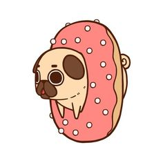puglie | LOL dog drawing Illustration art funny animals cute food puppy design ... - Tap the pin for the most adorable pawtastic fur baby apparel! You'll love the dog clothes and cat clothes! <3