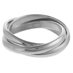 Sterling Silver .925 Stamp Women's Hypoallergenic Nickel Free Triple Band Ring, sizes 5,6,7,8,9 $29.99