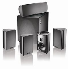 Definitive Technology ProCinema 600 5.1 Speaker System (Set of Six, Black) by Definitive Technology. $799.00. From the Manufacturer                 Enjoy a superior home theater audio performance without investing in expensive and space-consuming loudspeakers with the six-piece Definitive Technology ProCinema 600 system.  It includes four ProMonitor 600 satellite speakers, a ProCenter 600 center channel speaker, and a 250-watt ProSub 600 subwoofer that's powered by...