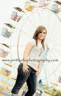 Senior Photo Session Ideas | Props | Prop | Photography | Teen | Clothing Inspiration| Fashion | Pose Idea | Poses | Amusement Park | Ferris Wheel | Rides
