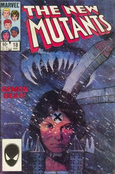 New Mutants 18 - Bill Sienkiewicz Superhero Series, Marvel Series, Comic Book Artists, Comic Book Characters, Marvel Comic Books, Comic Books Art, The New Mutants, Mutants Xmen, Man Movies