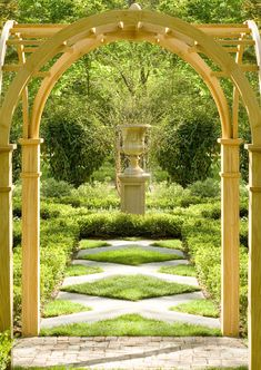 love the arched pergola and the pathway