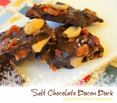 Salty dark Chocolate Bacon Bark recipe includes how to temper chocolate with Thermomix kitchen machine. How To Temper Chocolate, Salted Chocolate, I Love Chocolate, Chocolate Pictures, Thermomix Desserts, Bark Recipe, Bacon, Sweet Treats, Deserts