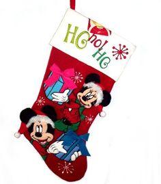disney christmas christmas holidays christmas stockings mickey mouse disney cruiseplan needlepoint christmas stockings christmas vacation stockings - Mickey Mouse Christmas Stocking