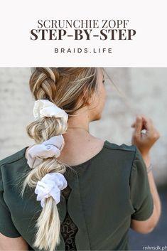 Ponytail Scrunchie, Scrunchies, Cool Hairstyles, Hair Care, Braids, Hair Beauty, Hair Styles, Bubble, Diy Ideas