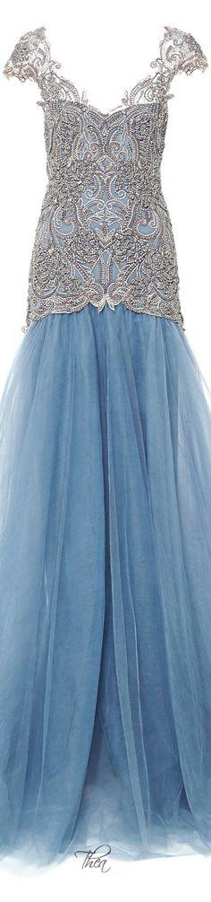 Marchesa ● Fall 2014, Drop Waist Ball Gown