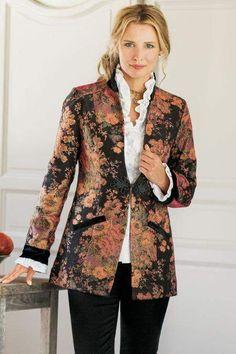 2136fb2aa2e85 Soft Surroundings Westbury Garden Jacket Floral Blazer