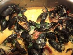 Don't be frightened of cooking mussels.  It's easy and they are delicious!  Add GENIE COOKS on Facebook for a little twist on the bog standard white wine and cream sauce!    https://www.facebook.com/profile.php?id=100002636376732