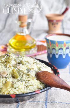 Aghmoudh: Couscous aux fèves et huile d'olive