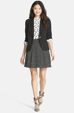 Olivia Moon Jacket, Halogen® Blouse & Tweed Skirt  available at #Nordstrom