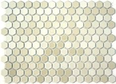 Play Gloss Glazed Hexagon Mosaic Tile, Product Code LGH-014 from the Lyric Glazed Porcelain Mosaic Tile Collection, sold by the 1 s.f. Sheet, mesh-mounted