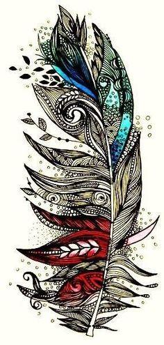 Tattoos / Feather tattoo | We Heart It