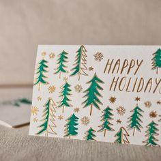 holiday card, letterpress