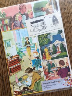 Around the House Vintage Home Life Collage by diamondcloudstudio