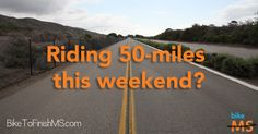 Riding 50 miles this weekend? Join 2,500 other cyclists in Oct & ride another 50 to help beat MS. #bikems #challenge #100miles