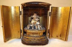 shopgoodwill.com: Antique Wooden Traveling Buddha Zushi Shrine