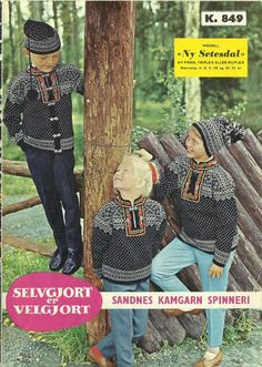 Setesdal ny k 849 Knitting For Kids, Knitting Projects, Norway, Knits, Crocheting, Knit Crochet, Sweaters, Ideas, Crochet