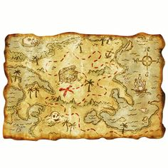 Plastic Pirate Treasure Map and/or Placemat